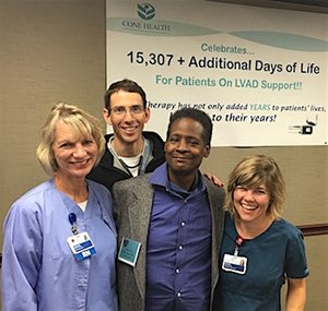 Dante Burt with VAD Care Team