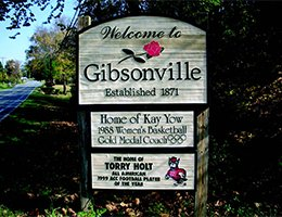 Town of Gibsonville sign