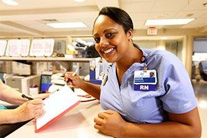Smiling Nurse at Cone Health