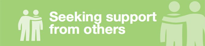 Seeking support from others