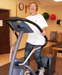 Joyce Thee on treadmill