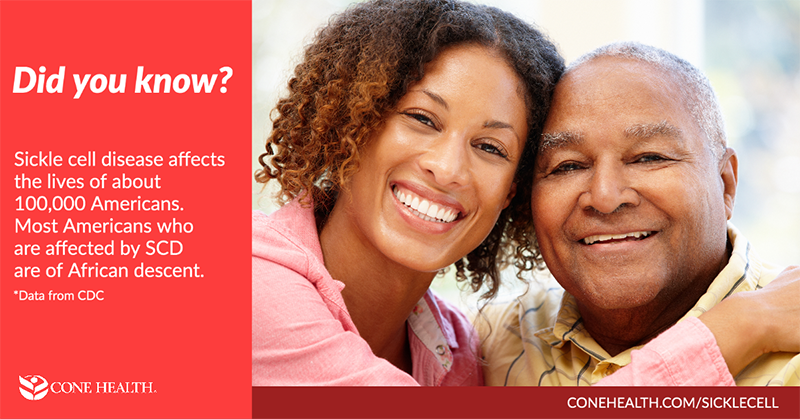 Did you know? Sickle cell disease affects the lives of about 100,000 Americans.