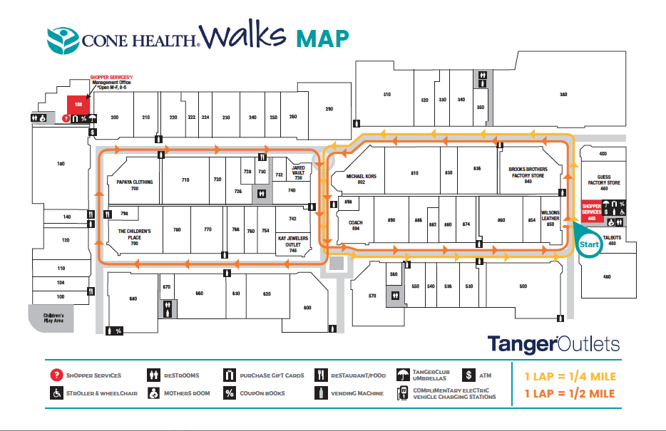 Tanger Walking Map