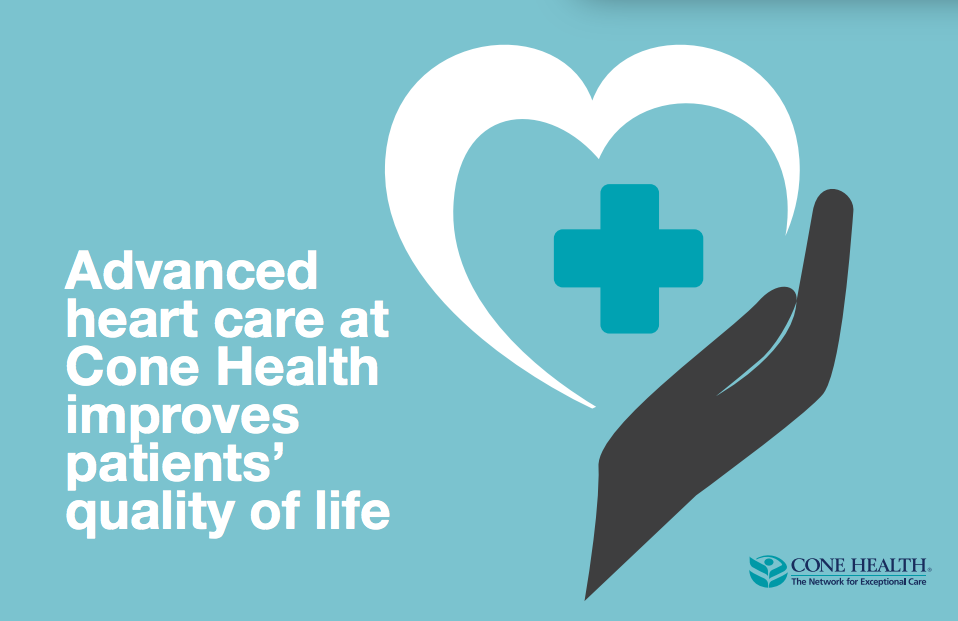 Advanced heart care at Cone Health improves patients' quality of life