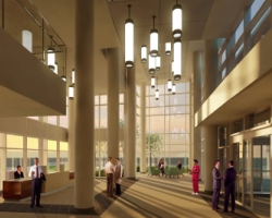 North Tower Lobby - Rendering