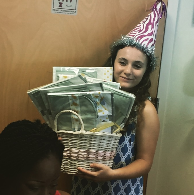 NICU teen gives back