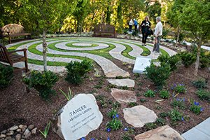 Labyrinth in healing garden