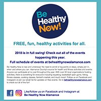 Be Healthy Now Newsletter