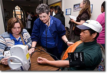 Congregational Nurse Blood Pressure Check
