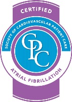 Certified for Treatment for Afib (Atrial Fibrillation) - Society of Cardiovascular Patient Care (SCPC)